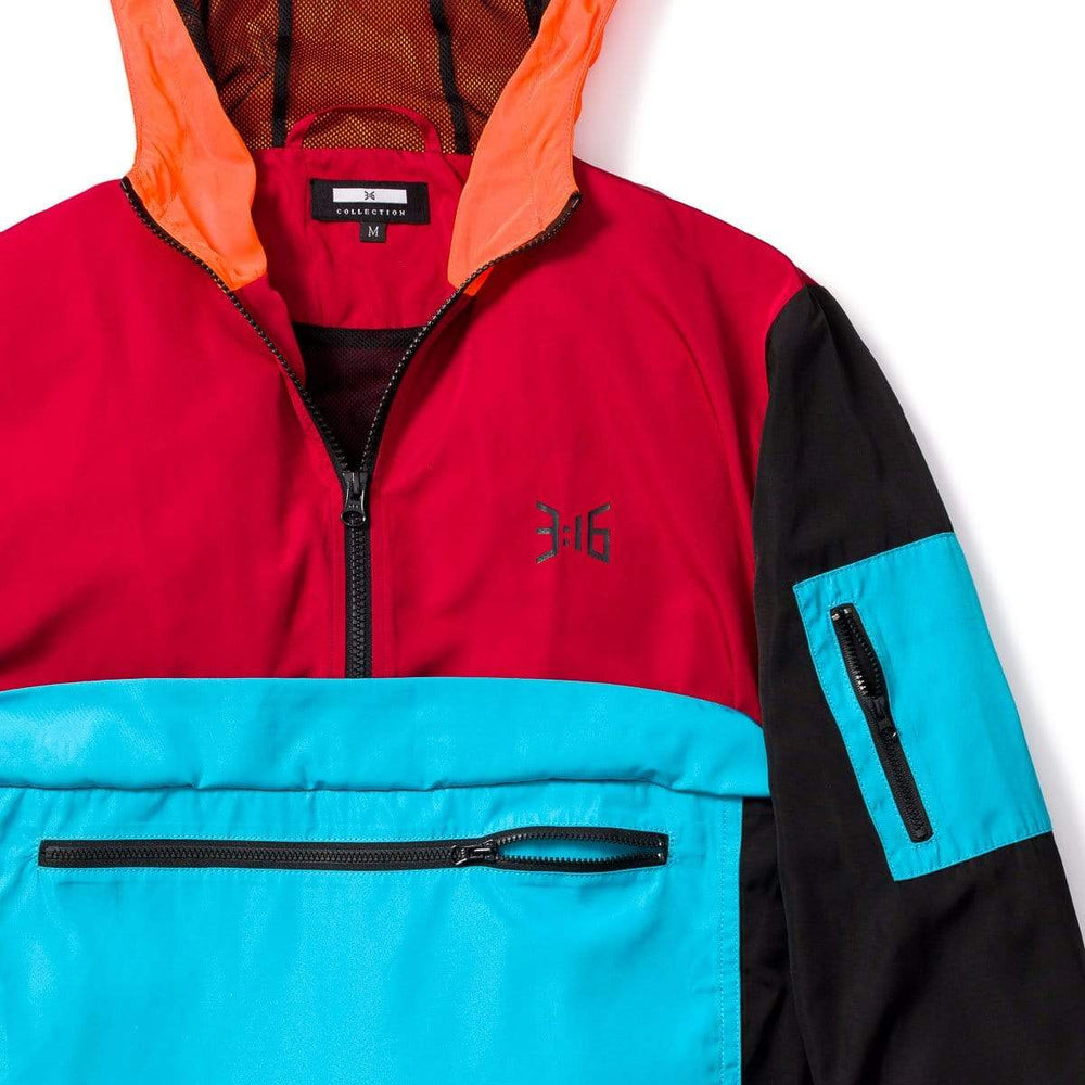 3:16 Collection Hoodie Jeremiah 29:11 Colorblock Windbreaker