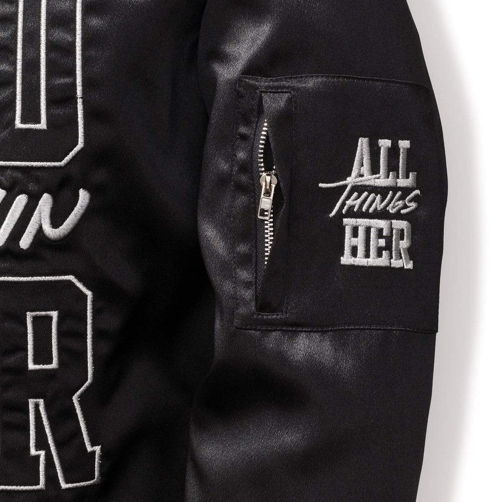 3:16 Collection Jacket WITHIN HER - WOMEN'S BOMBER JACKET - BLACK