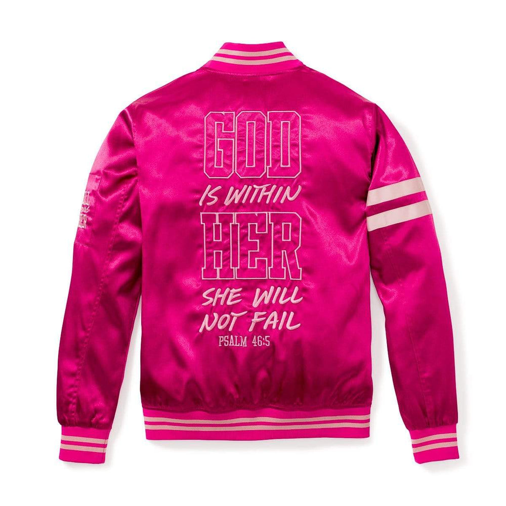 3:16 Collection Jacket WITHIN HER - WOMEN'S BOMBER JACKET - FUCHSIA