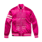 WITHIN HER - WOMEN'S BOMBER JACKET - FUCHSIA