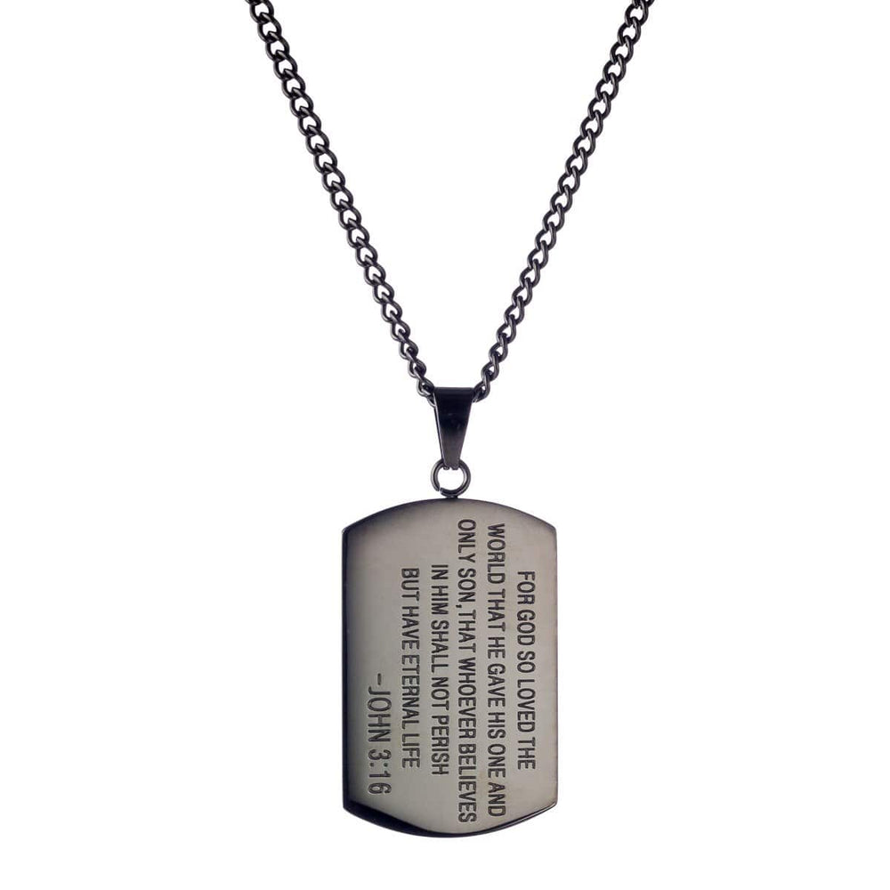 3:16 Collection Jewelry 3:16 Logo Dog Tag - Limited Edition Black