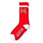 Salvation Casual Crew Sock - Red