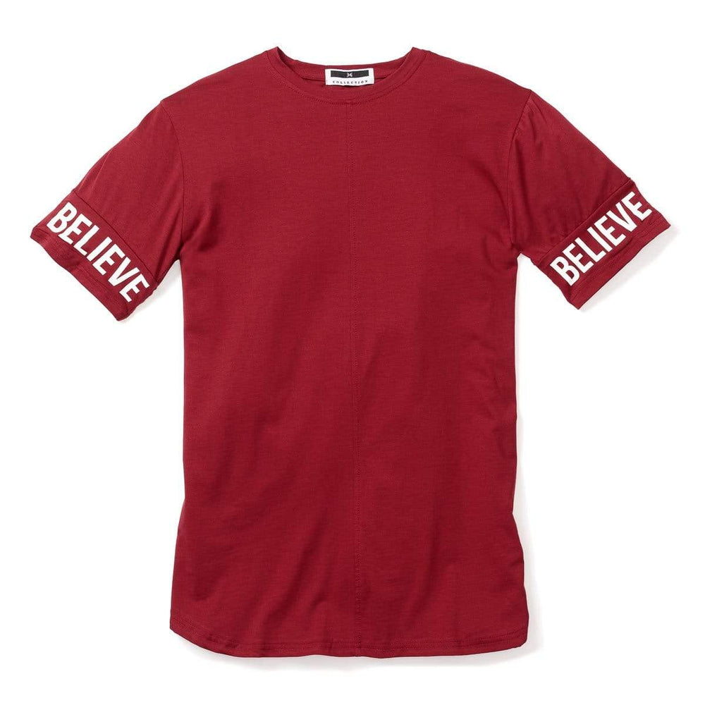 3:16 - Believe Sleeve Tee - Maroon Red