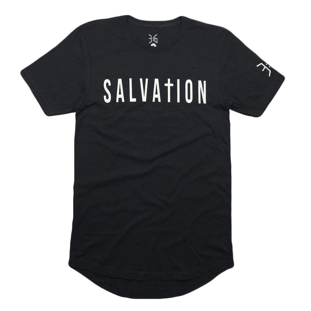 Salvation Scoop Tee - Black (Long Body)