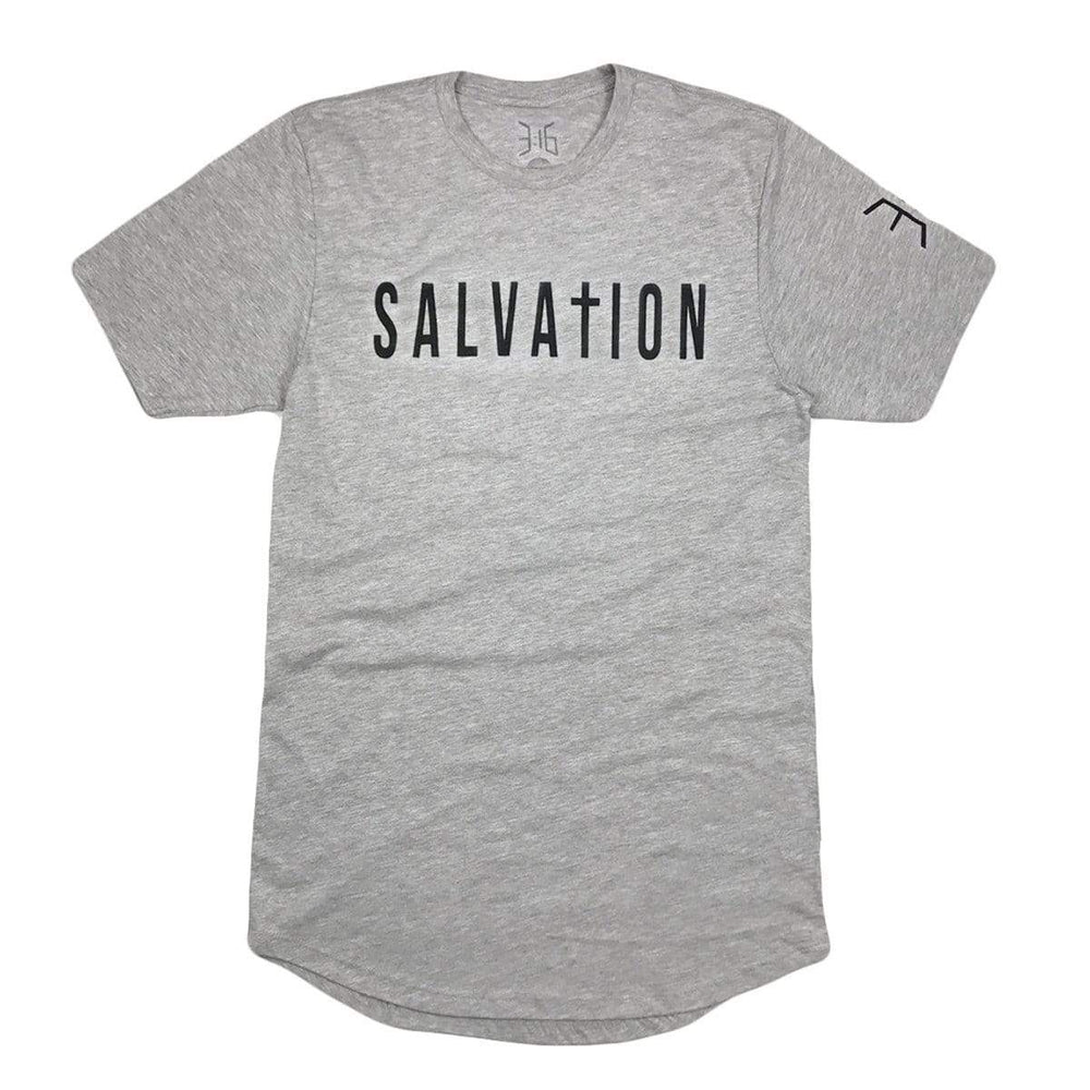 Salvation Scoop Tee - Heather Gray (Long Body)