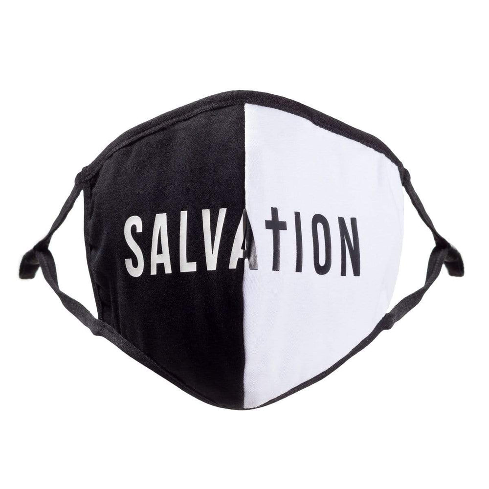 316collection Face Mask 1 Mask with Filter Salvation Split Mask (Black & White)
