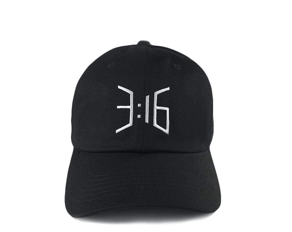 3:16 Dad Cap Black