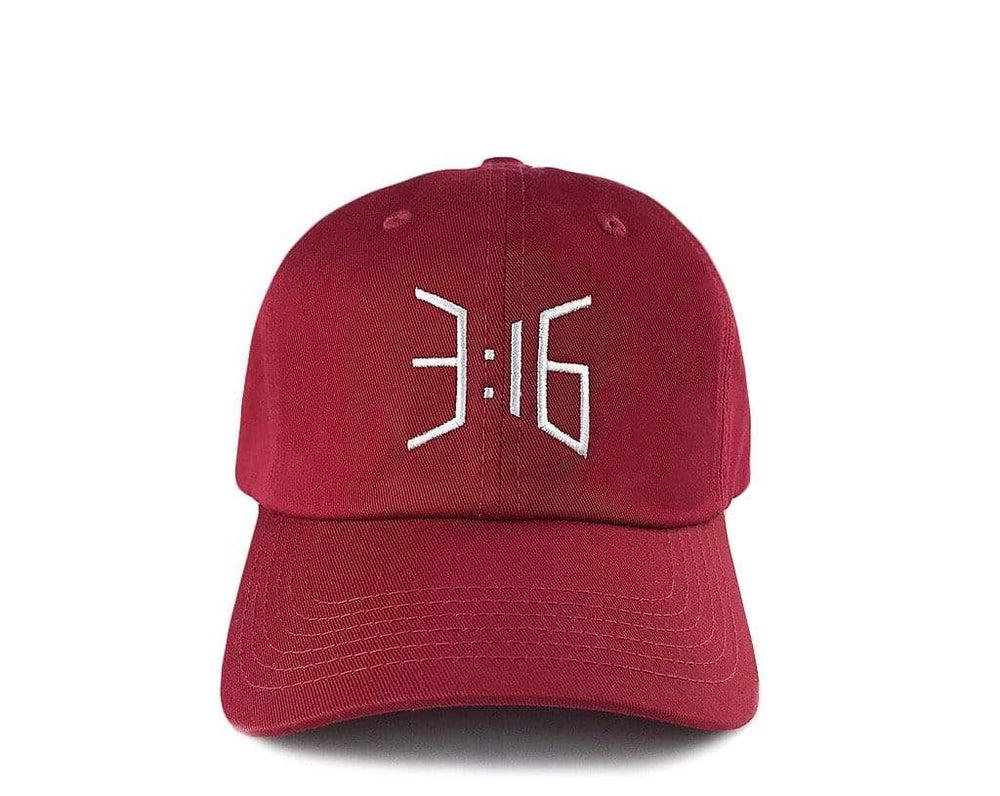 3:16 Dad Cap Claret Red