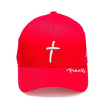 Psalm 23 - Premium Baseball Cap - Red