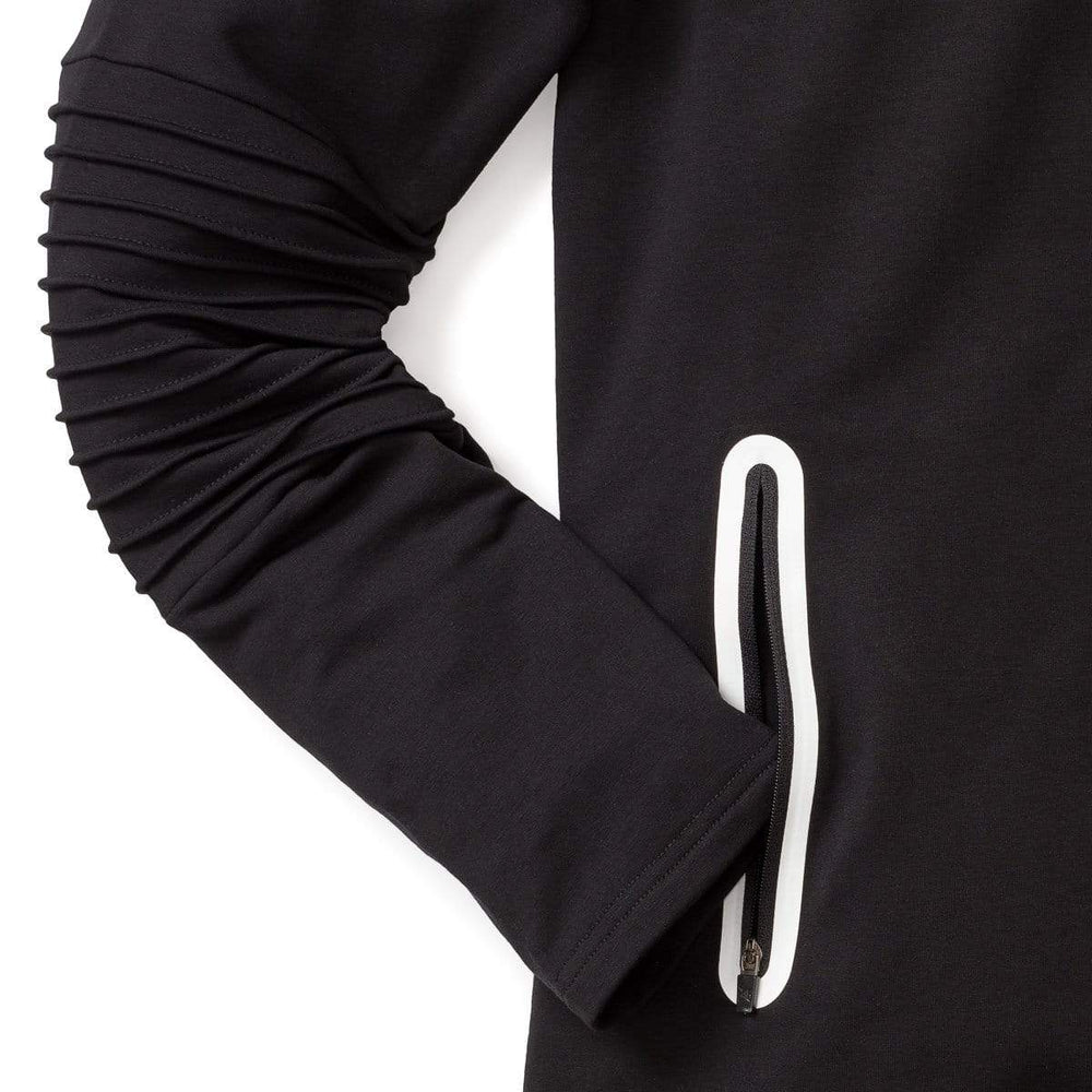 316collection hoodie 3:16 Ribbed Athleisure Hoodie - Black