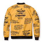 316collection JAcket Psalm 23 Premium Bomber Jacket - GOLD