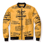 Psalm 23 Premium Bomber Jacket - GOLD