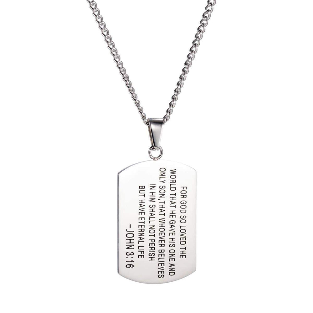 316collection Jewelry 3:16 Dogtag Necklace