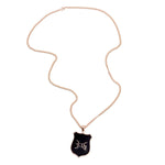 316collection Jewelry - Private Label Jewelry Psalm 23 - Pendant Necklace - Gold/Black