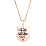 Psalm 23 - Pendant Necklace - Gold/Black
