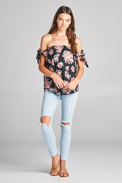 Floral Tied Up Top