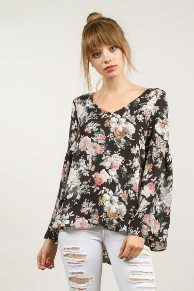 All Over Floral Print Top