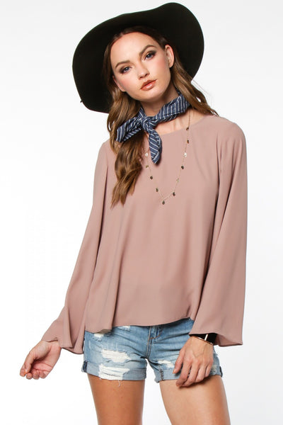 Flowy Blouse with Open Back