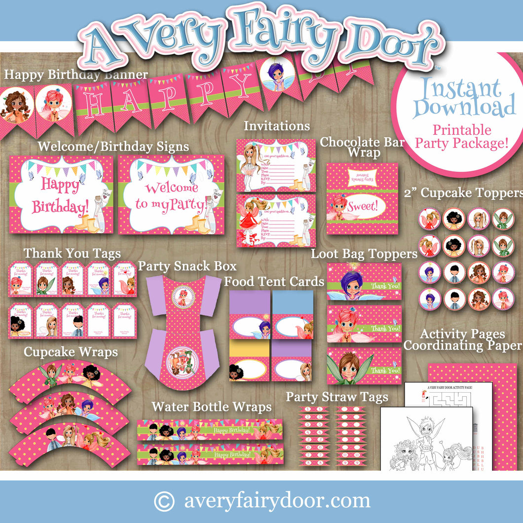 A Very Fairy Party Printable