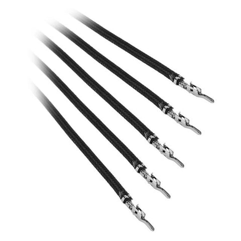 BitFenix Alchemy 2.0 5x 20cm Sleeved PSU Cable (Black)
