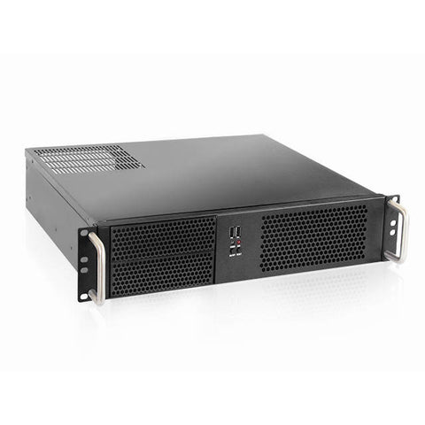 iStarUSA D Value D-214-MATX No Power Supply 2U Compact Rackmount Server Chassis (Black)