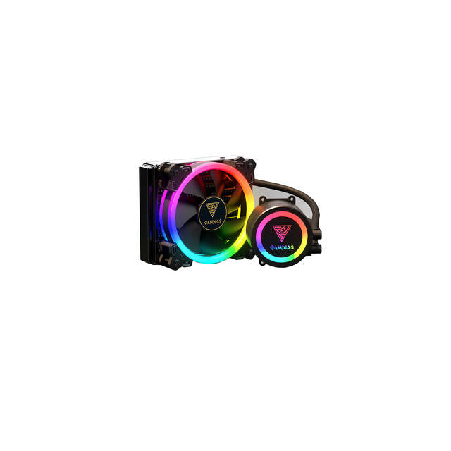 Gamdias CHIONE E1A-120R All-In-One Liquid CPU Cooler for LGA2066/ 2011_v3/ 2011/ 1151/ 1150/ 1155/ 1156/ 1366/ 775 & AMD Socket AM4/ AM3+/ AM3/ AM2+/ AM2/ FM2+/ FM2/ FM1
