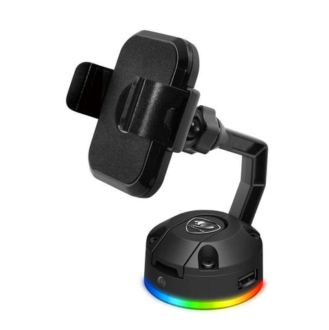 Cougar Bunker M RGB phone stand with QI wireless charging and 2x USB 2.0