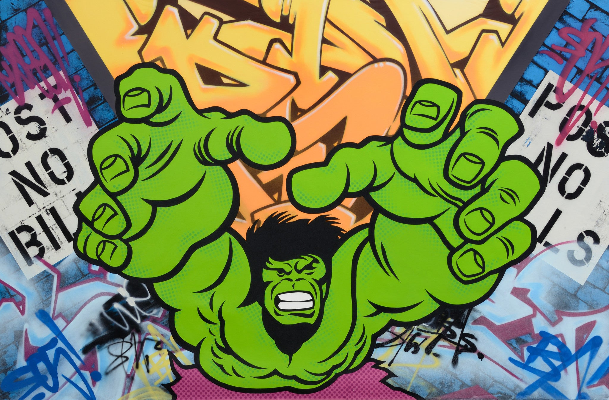 "SEEN - ""HULK"" Aerosol on Canvas"