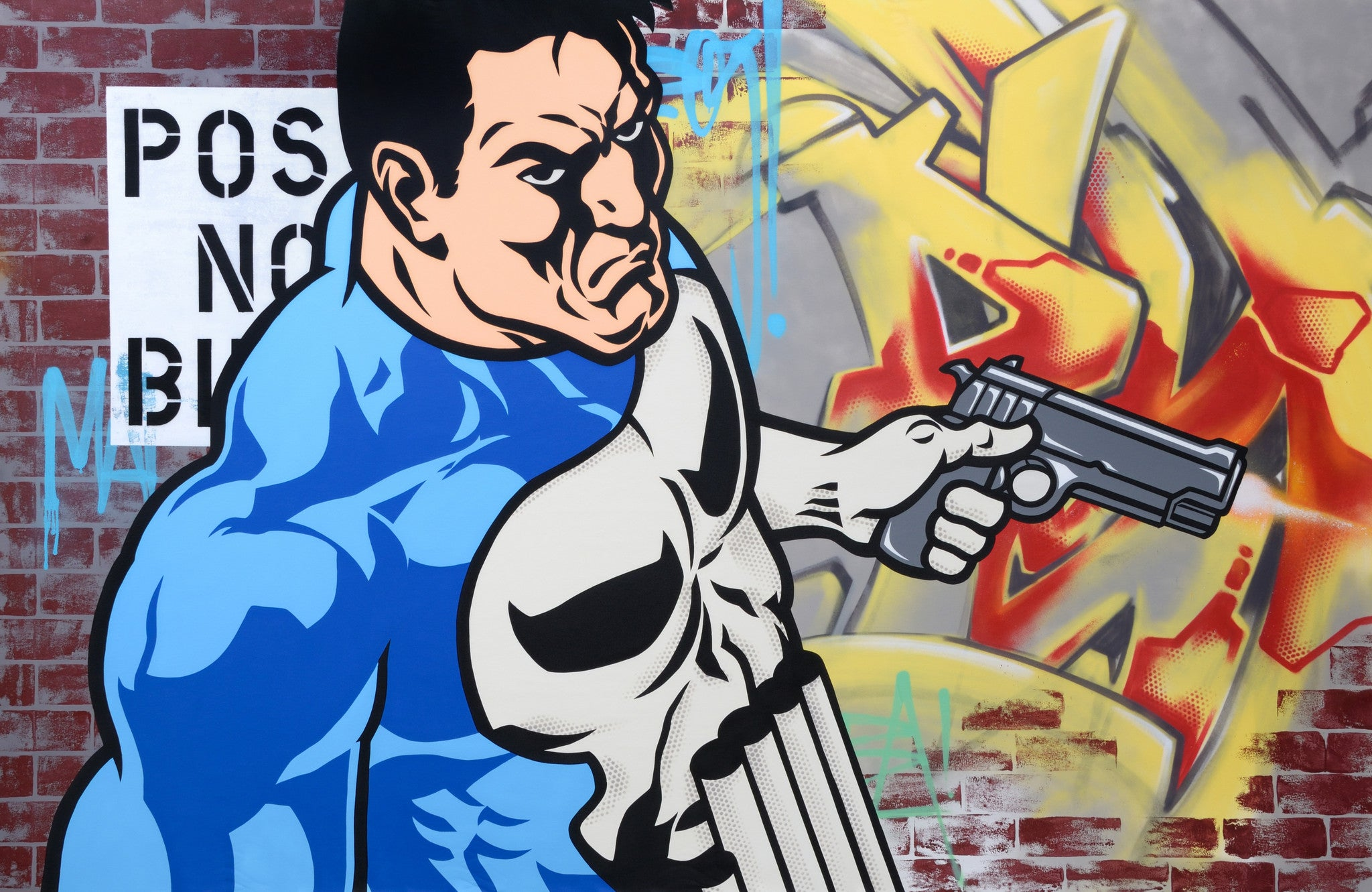 "SEEN  - ""Punisher"" Aerosol on Canvas"