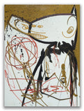 "FUTURA - ""Gold Finger"" On Canvas Board"