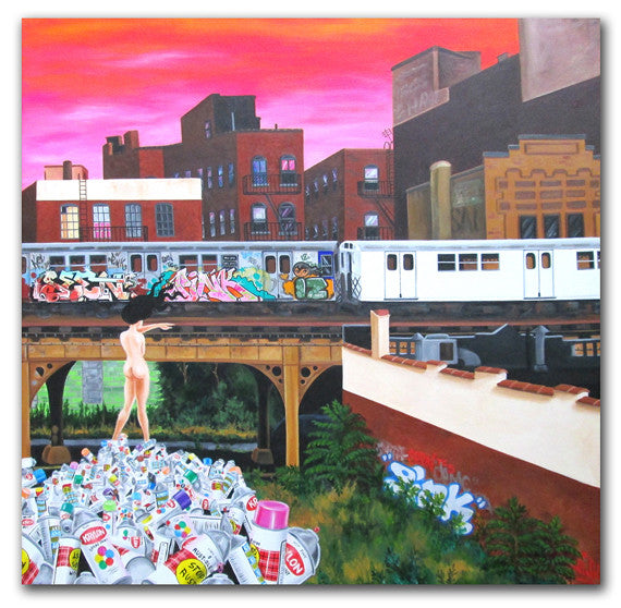 "LADY PINK ""Death of Graffiti"" Painting"