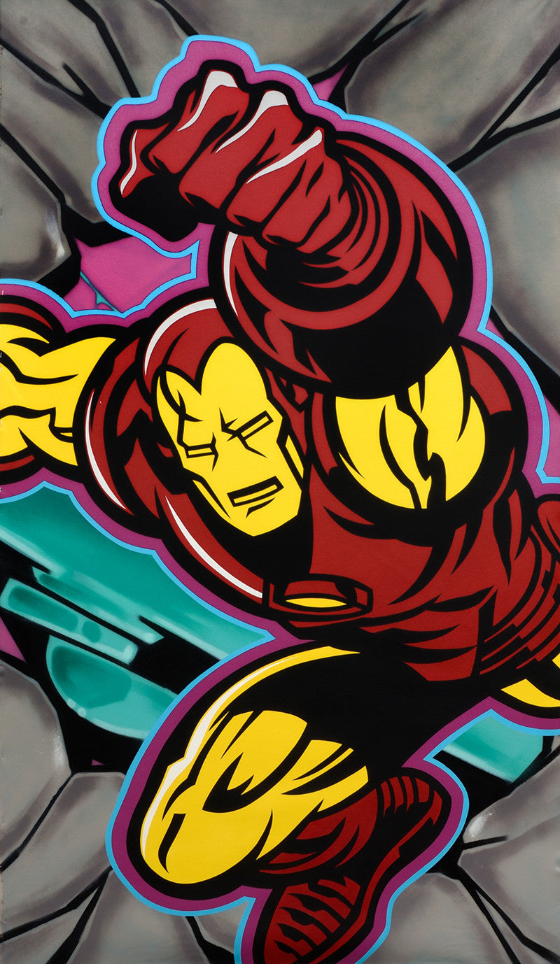 "SEEN  - ""Iron Man"" Aerosol on Canvas"