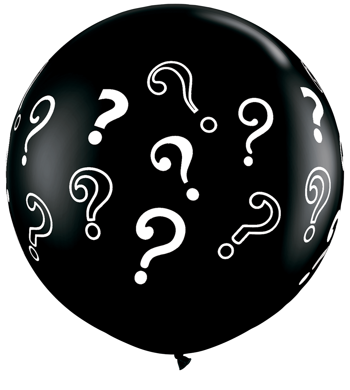 3ft Print - Question Marks Black