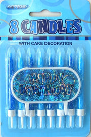 Glitz 8 Candles With Decoration