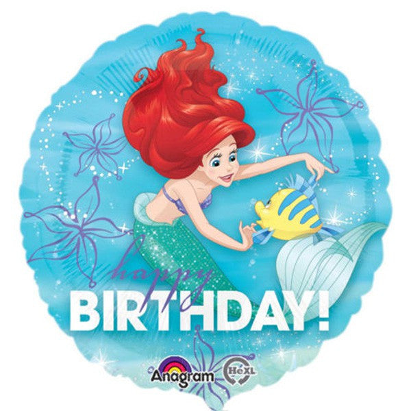 "18"" - Ariel Happy Birthday"