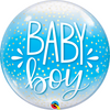 Bubble - Baby Boy Blue & Confetti Dots