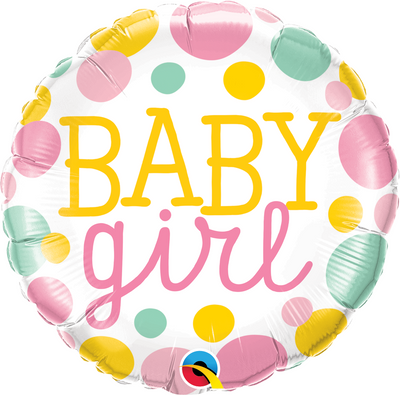 "18"" - Baby Girl Dots"