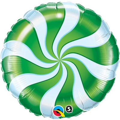 "18"" - Christmas Candy Swirl Green"