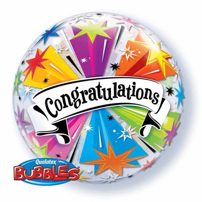 Bubble - Congratulations Banner Blassorted