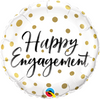 "18"" - Happy Engagement Gold Dots"