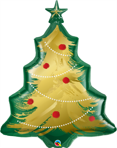 Supershape - Christmas Tree Brushed Gold