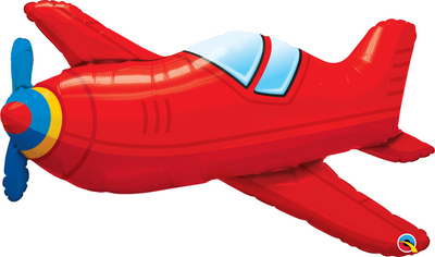Supershape - Red Vintage Airplane