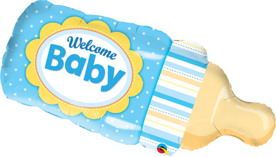 Supershape - Welcome Baby Bottle Blue