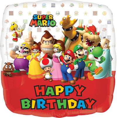 "18"" - Super Mario Brothers Happy Birthday"