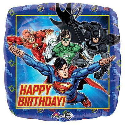 "18"" - Justice League Happy Birthday"