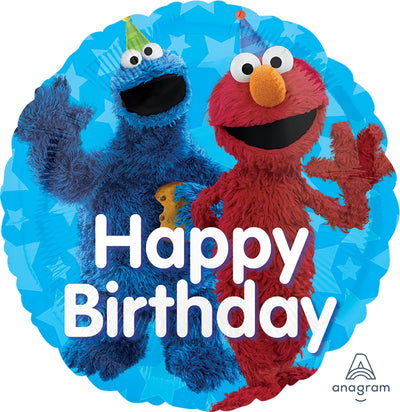 "18"" - Sesame Street Fun Happy Birthday"