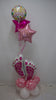 Fabulous Floor Bouquet - Baby Girl Feet Pink