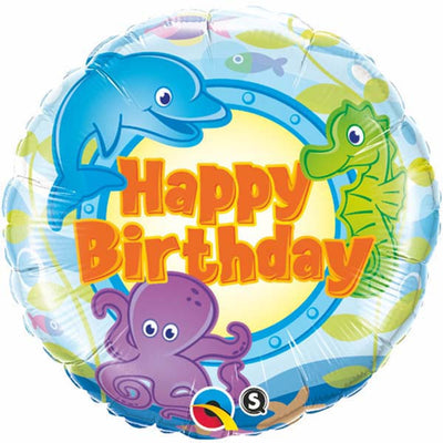"18"" - Birthday Fun Sea Creatures"