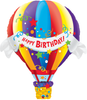 Supershape - Birthday Hot Air Balloon