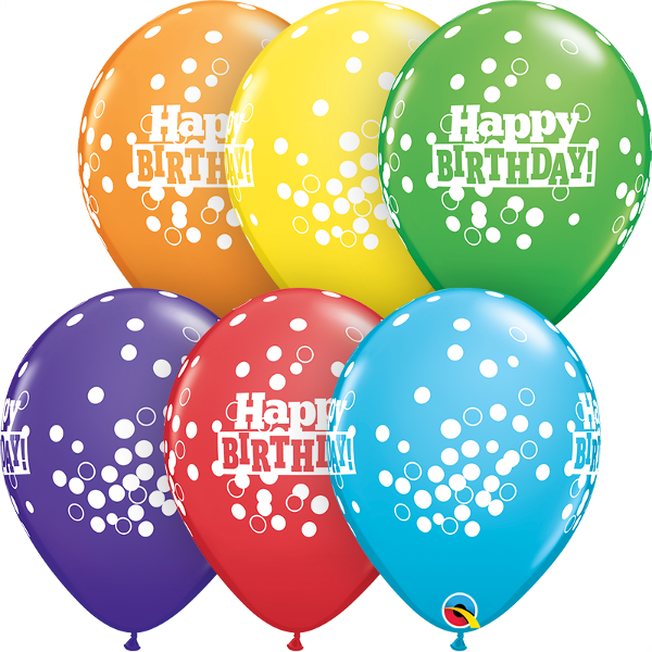 "11"" Print - Birthday Confetti Dots"